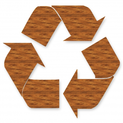 Wooden Recycle Logo
